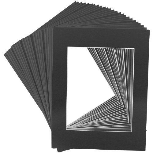 Us Art Supply Art Mats Brand Premier Acidfree Precut 16x20 Black Picture Mat Matte Face Frames Includes A Pack Of 25 Whi Matting Pictures Black Picture Art Mat