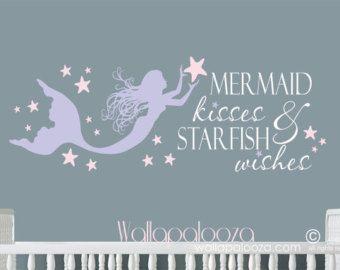 Superbe Mermaid Kisses Wall Decal Starfish Wishes By CustomVinylbyBridge