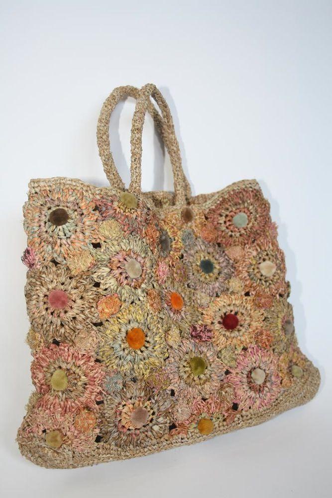 Image of Sophie Digard Raffia Bag | Crochet Designer - Sophie Digard ...