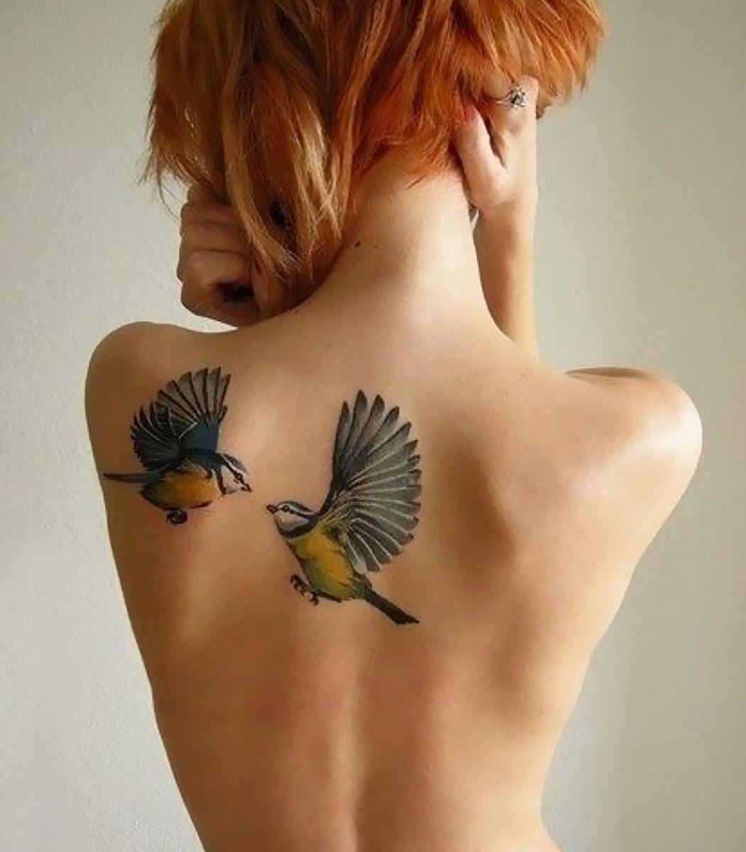 De colibri en la espalda significado tatuaje colibri tatuaje tattoo - Tatuaje De Dos Aves En Espalda De Mujer