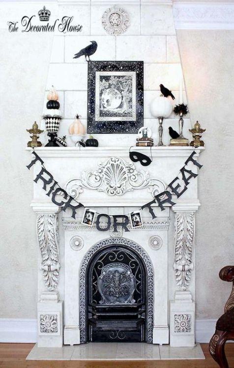 17 Spooky Halloween Mantel Ideas You Need to DIY Pinterest