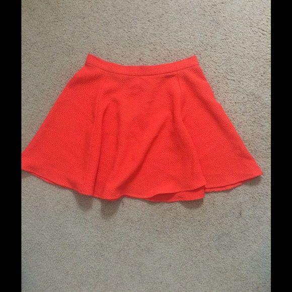 Poppin' orange skater skirt Cute skater skirt in an amazing color for spring. Great condition. Skirts Circle & Skater