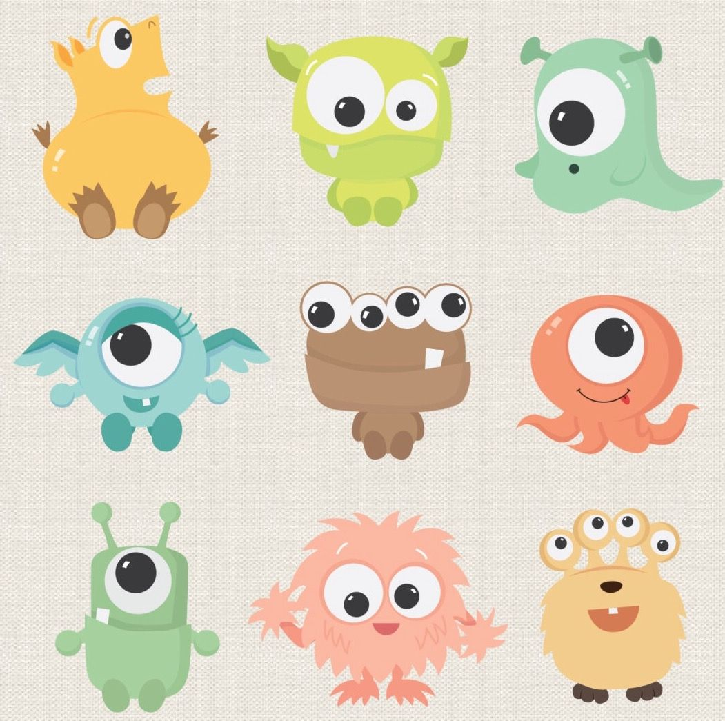 Cute Baby Monsters Cute Monsters Monster Clipart Monster Creator