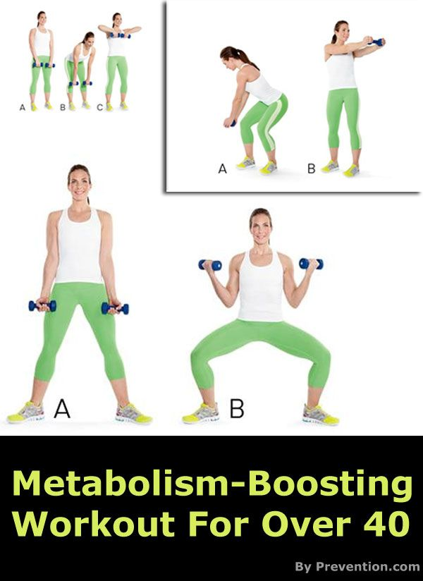 Metabolism Boosting Workout For Over 40 Healthy Beauty Boost Metabolism Fitness Fitness Diet