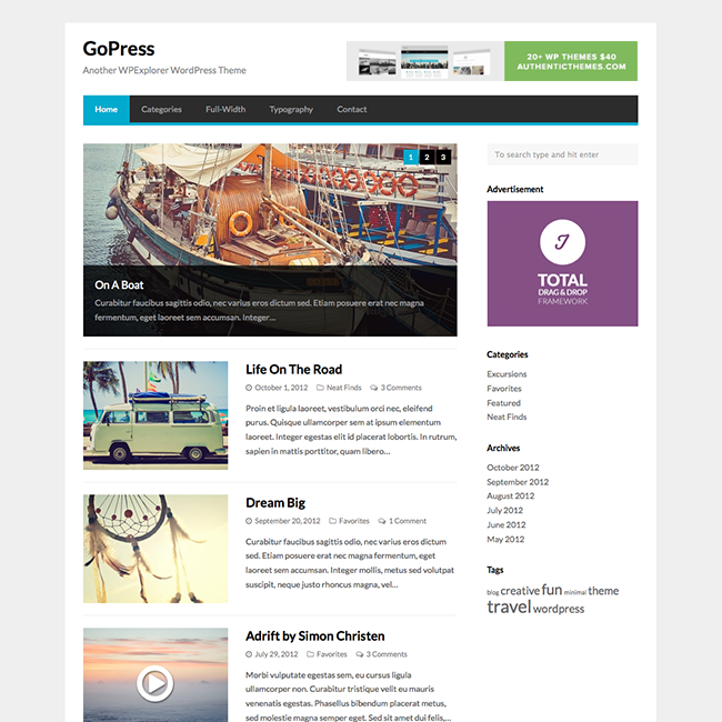 GoPress | Wordpress Themes and Tips | Pinterest