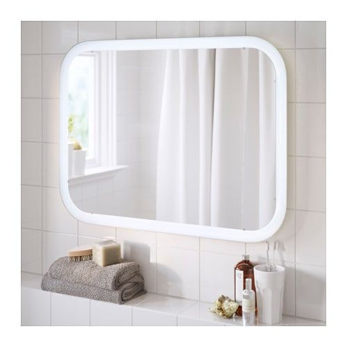 Storjorm Mirror With Built In Light White Bathroom Ideas