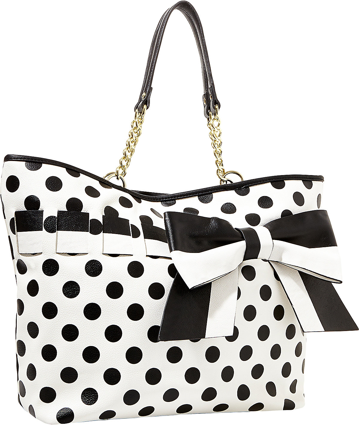 betsey johnson black gift me baby tote betsey