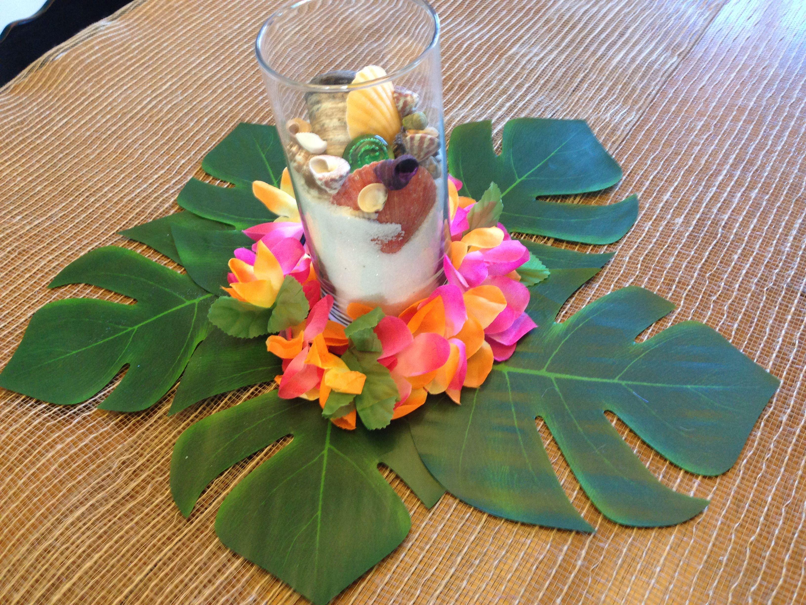 Centerpiece For Moana Polynesian Birthday Party Yaya 3rd Bday