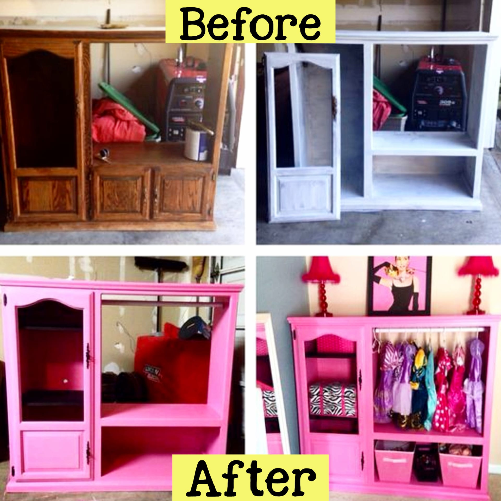 How To Repurpose A Dresser Without Drawers Easy Diy