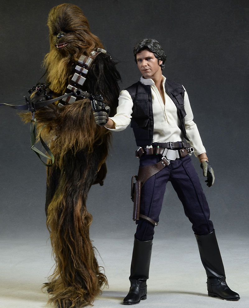 hot toys star wars han solo chewbacca sixth scale figures