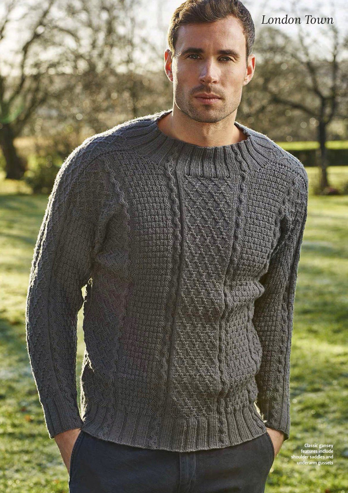 мужской свитер с горлом крючком схема