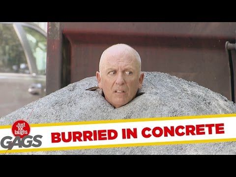 Buried in Concrete - Just For Laughs Gags - Funny Videos - Joke King