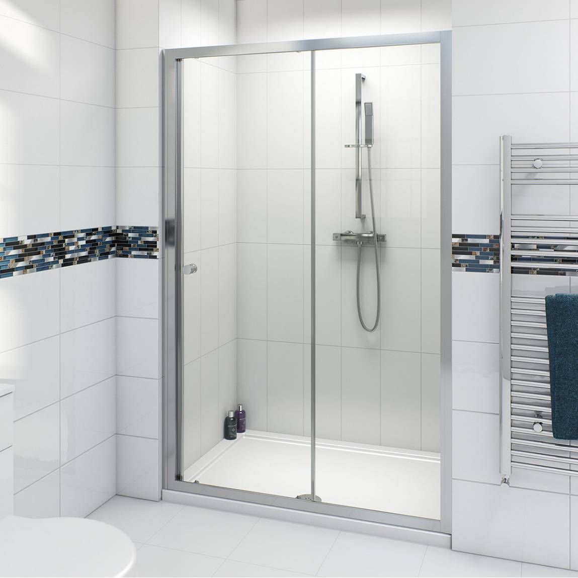 V4 Sliding Shower Door 1200 Now 79 99 Shower Doors Sliding Shower Door Frameless Sliding Shower Doors