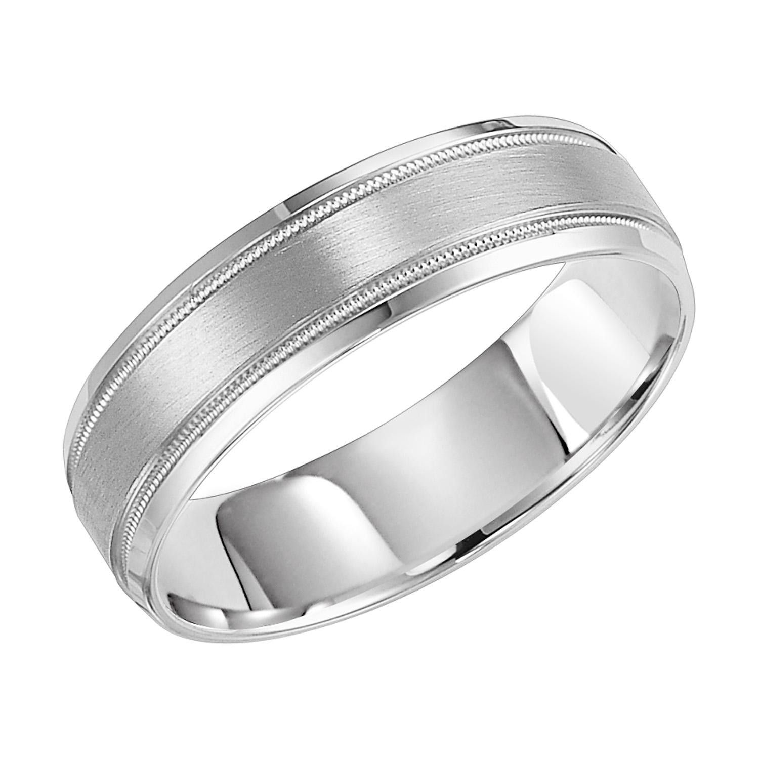 Men S 8mm Tungsten Wedding Band With Satin Finish Tungsten