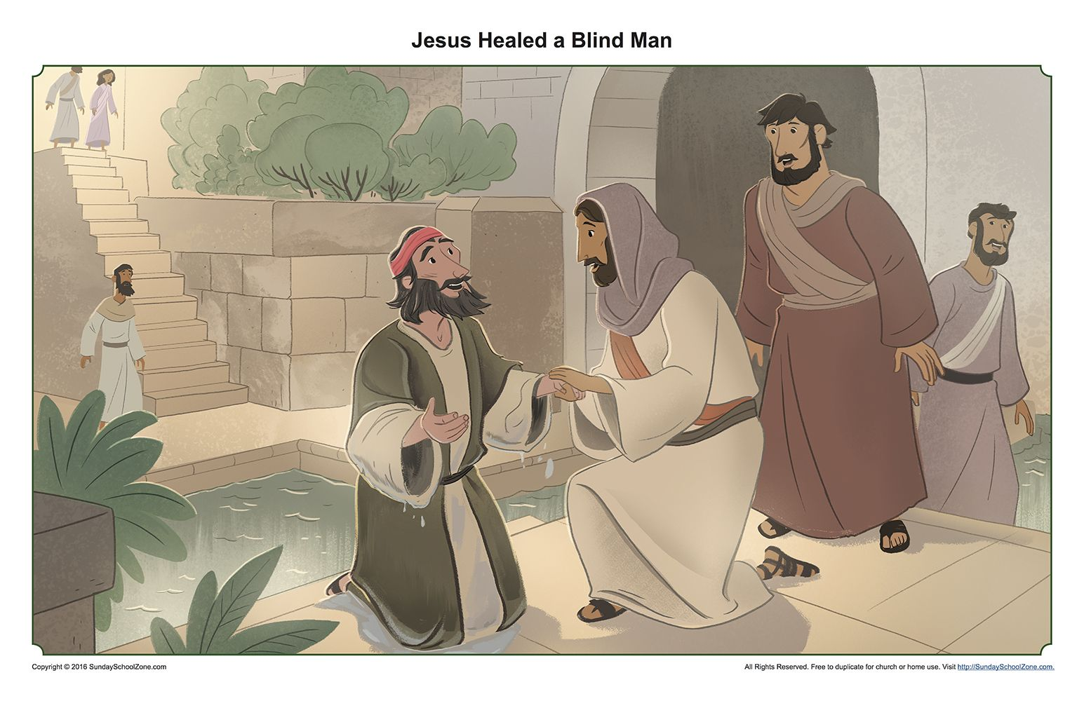 Jesus Healed A Man Born Blind Teaching Picture For Kids Jesus