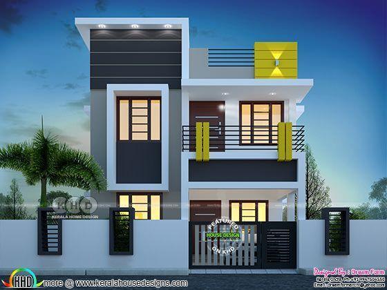 3 Bedroom 1400 Sq Ft Cute Budget Home Design Duplex House Design Small House Design Exterior Latest House Designs