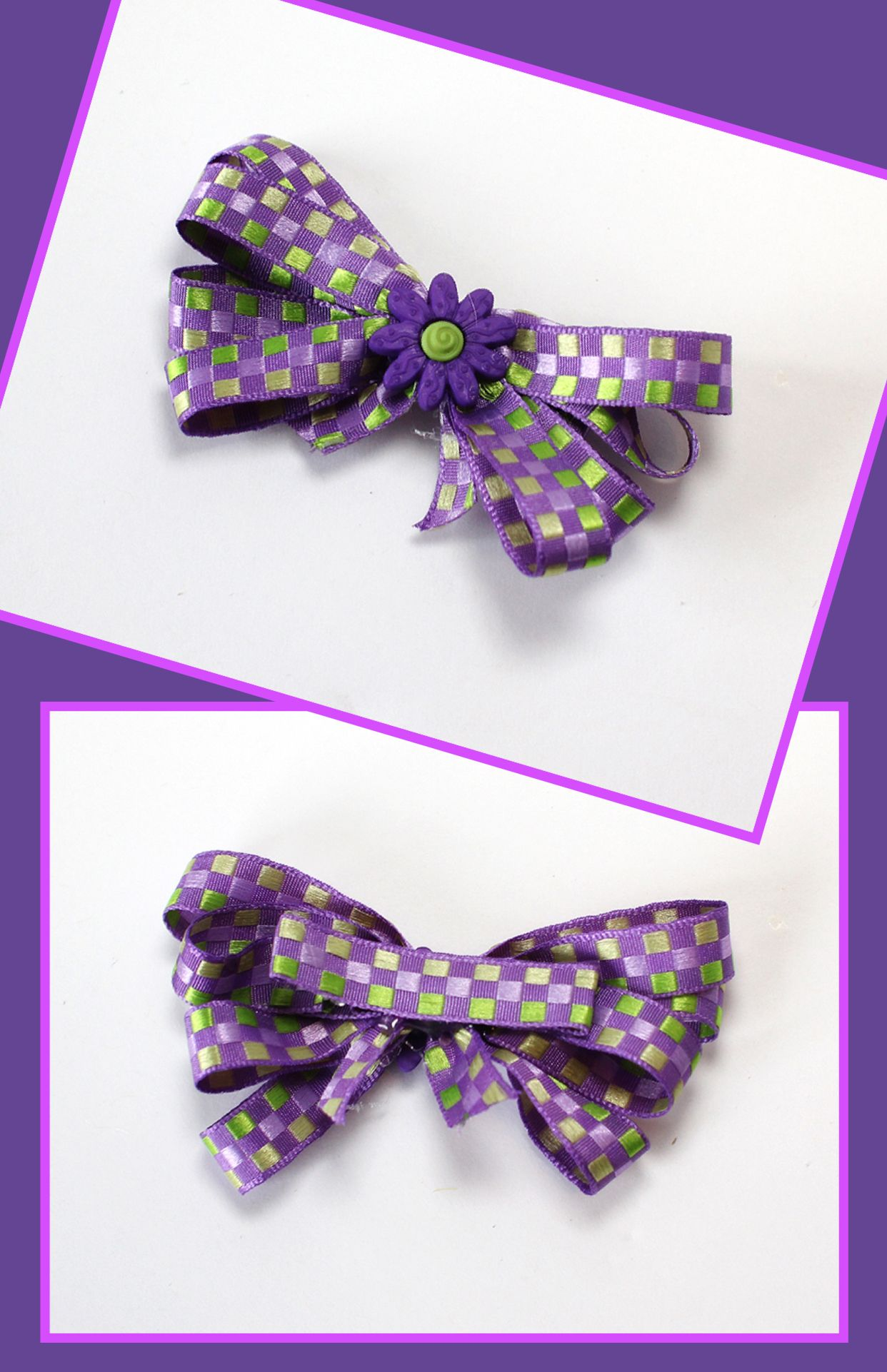 Purple Daisy Flower Hair Clip Hair Accessories Pinterest