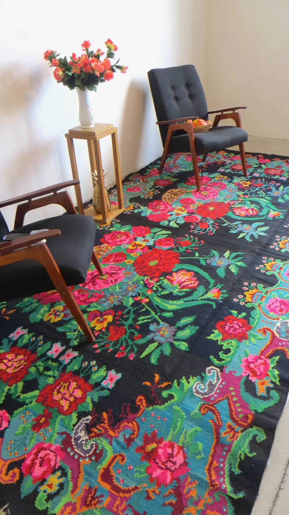 grand tapis de salon tapis kilim moldave large area rug. Black Bedroom Furniture Sets. Home Design Ideas