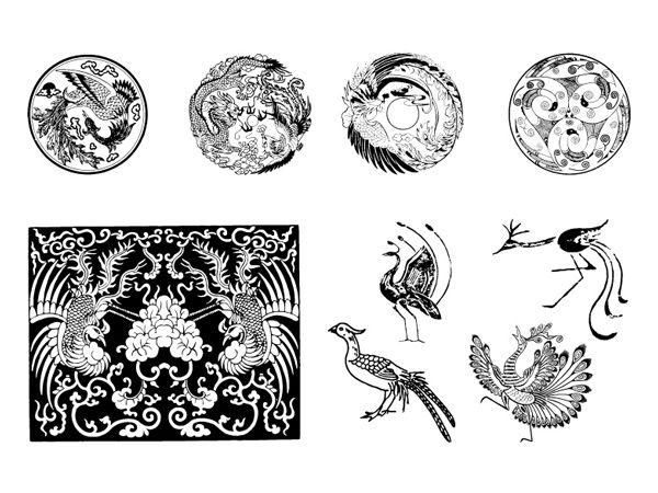 伝統的な鳳凰ベクター 参考にしたいデザイン 鳳凰 イラスト 鳳凰 Et