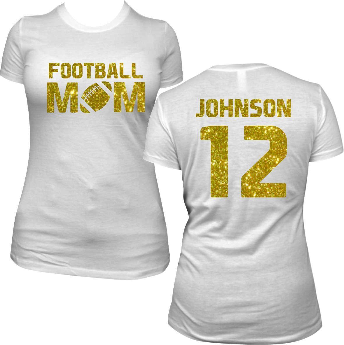 Personalized Football Mom Shirt White Short Sleeve You