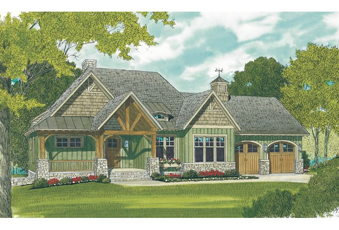 Like The Floor Plan And Outside Prefer Garage Doors To Be On Side Craftsman House Plans Craftsman Style House Plans Craftsman House