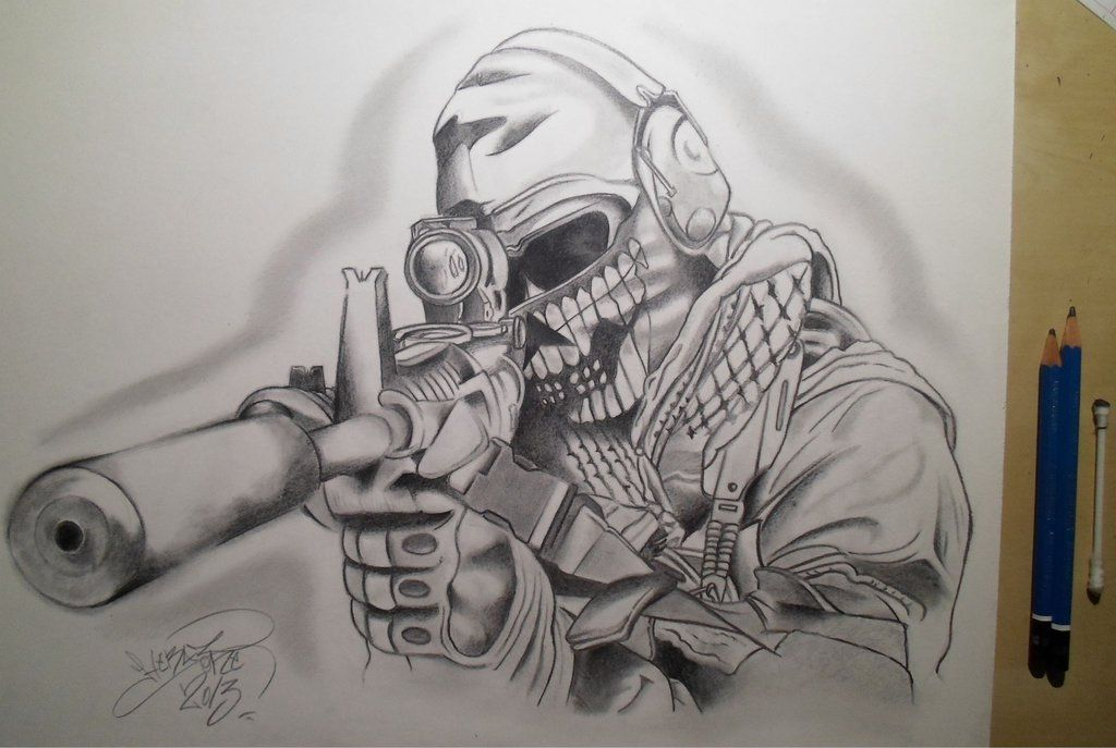Call Of Duty Drawing Really Cool Drawings Cool Drawings Military Drawings