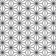 Japanese Star Pattern Geometry Pattern Japanese Patterns Print Patterns
