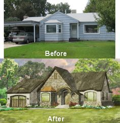 Turning A Ranch With Carport Into Charming Tudor Carriage House Garage Door Facelifts For Homes