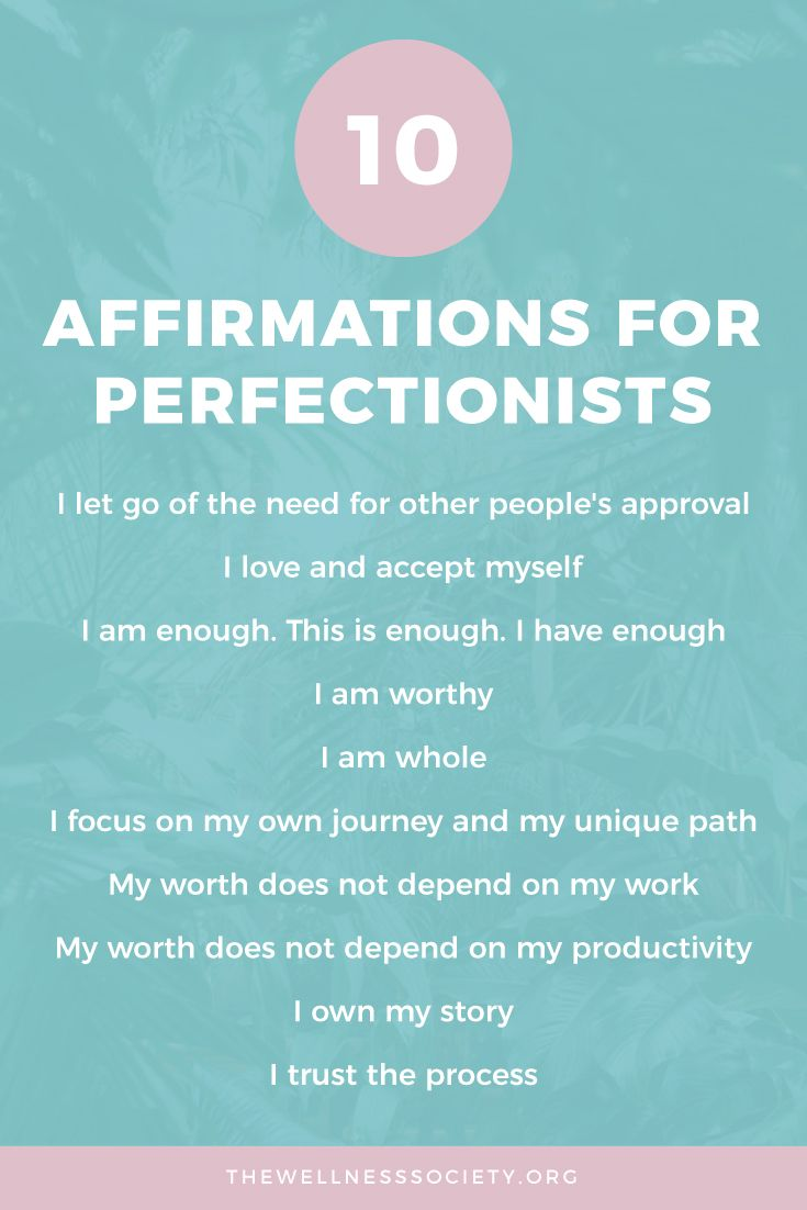 3 Ways to Overcome Perfectionism: Affirmations, Cognitive Restructuring and Taking Action - The Wellness Society   Self-Help, Therapy and Coaching Tools