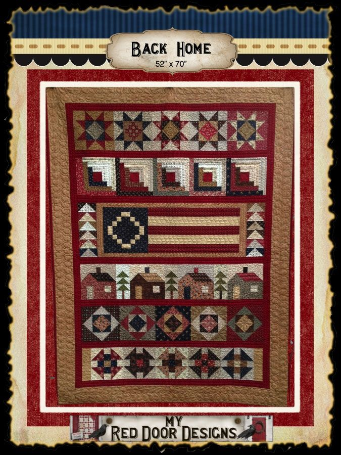 Back Home quilt kit and patterns. www.myreddoordesigns.com ... : country carriage quilts - Adamdwight.com