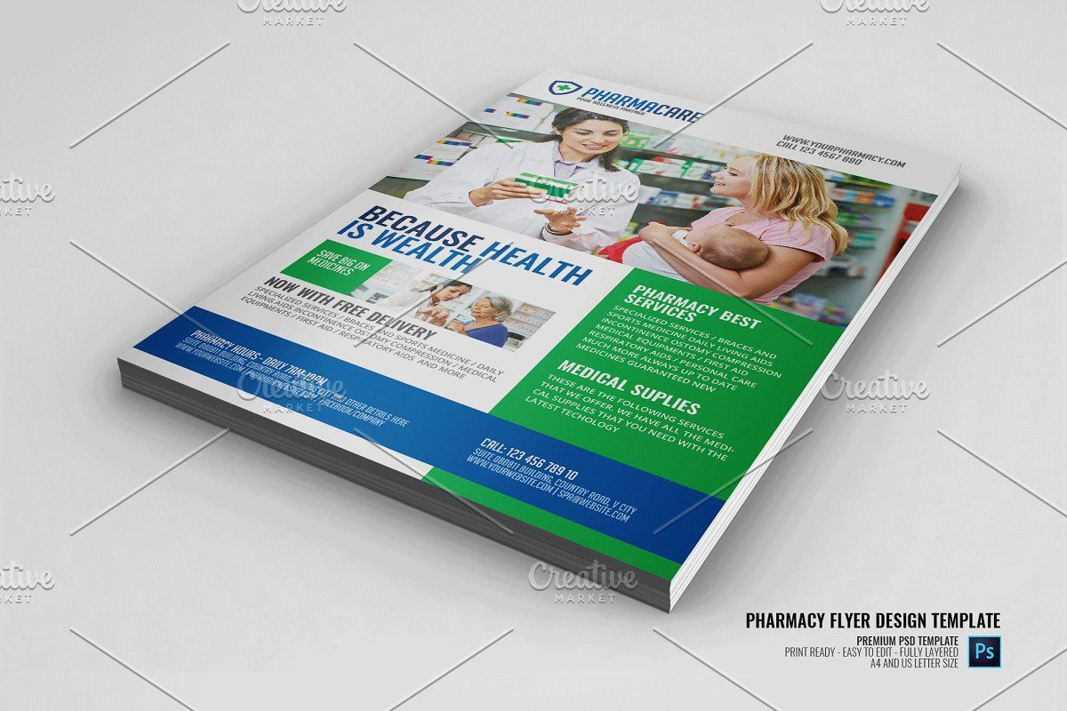 Medical Pharmacy Flyer Design Flyer design, Flyer design