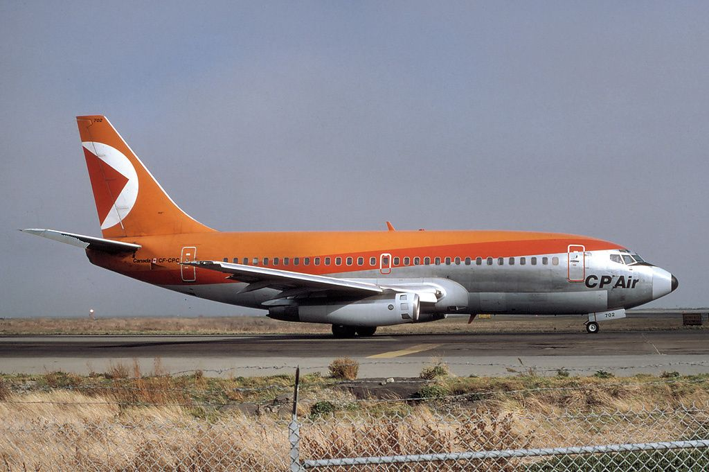 CPAir (Canadian Pacific Airlines) Boeing 737200 Pacific