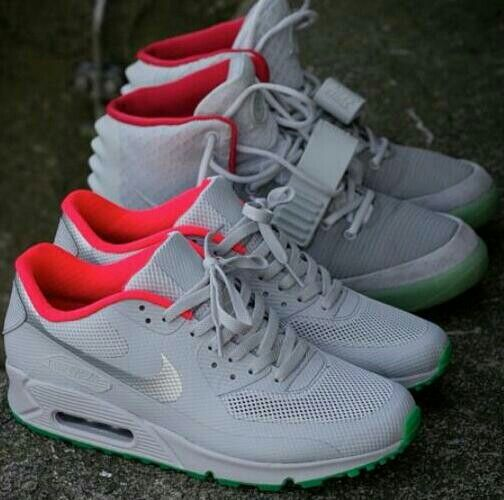 0bd6d3659be1 nike Air Max 90 ID And Yeezy ID Platinum