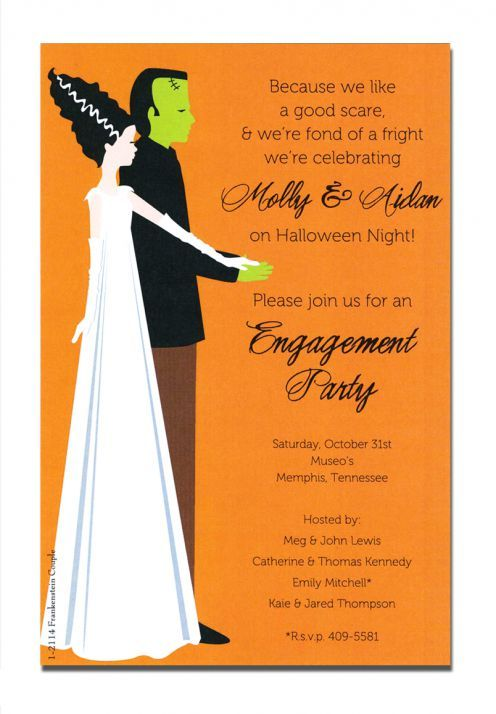 Frankenstein Couple Halloween Invitations by Inviting Company