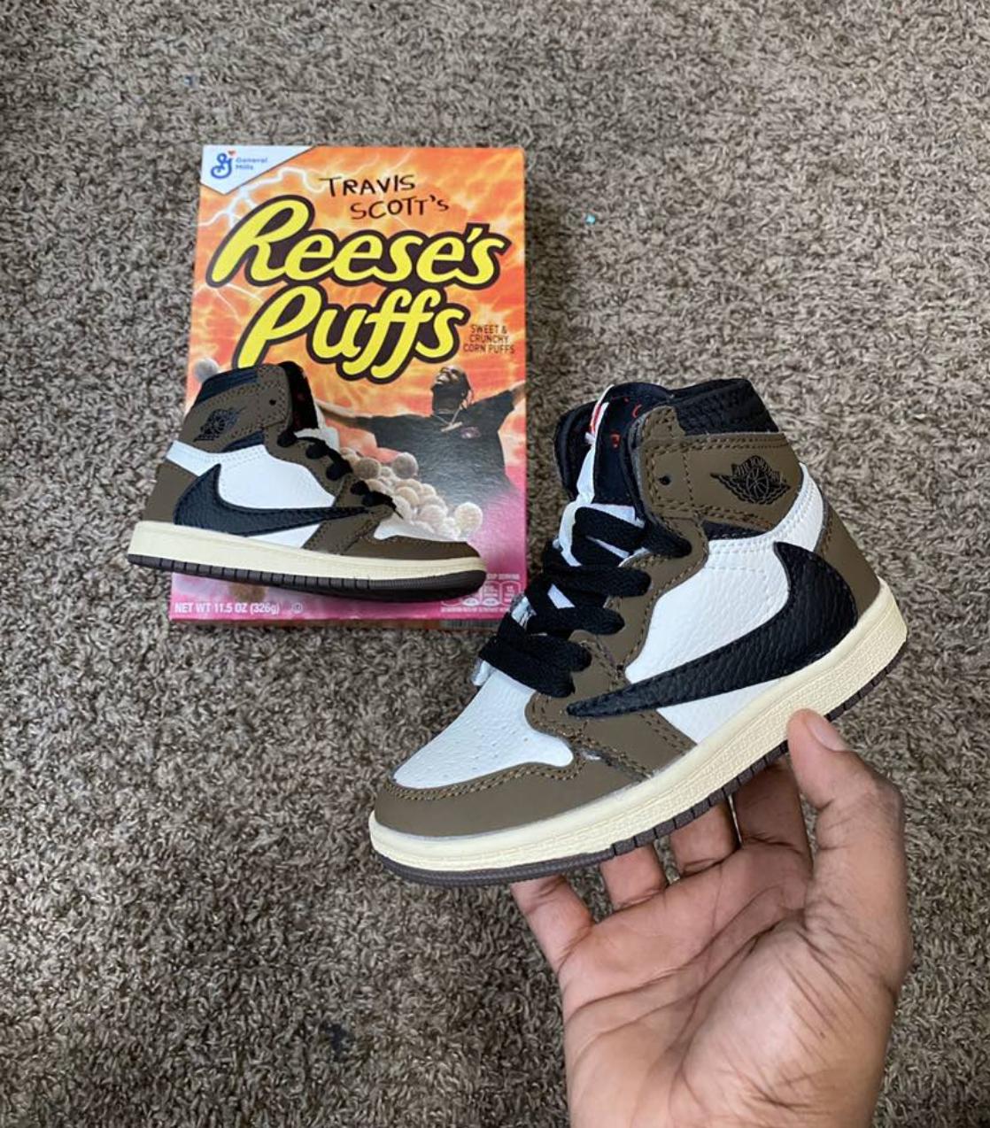 Kids Jordan 1 Travis Scott - Custom 9C