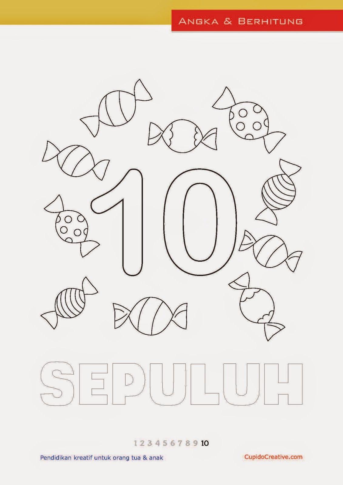 Belajar Paudbalitatk Mengenal Menulis Angka 1 10 Sambil Bermain