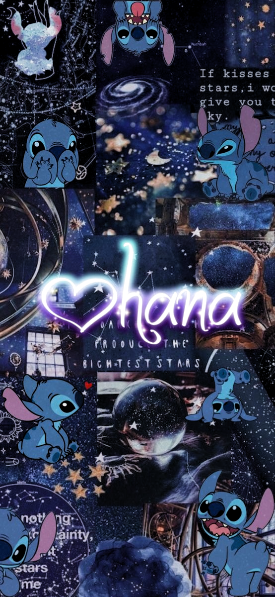 Lilo & Stitch Ohana Asthetic Wallpaper Galaxy for iPhone XS /Xr, #Asthetic #Galaxy #Iphone ,...