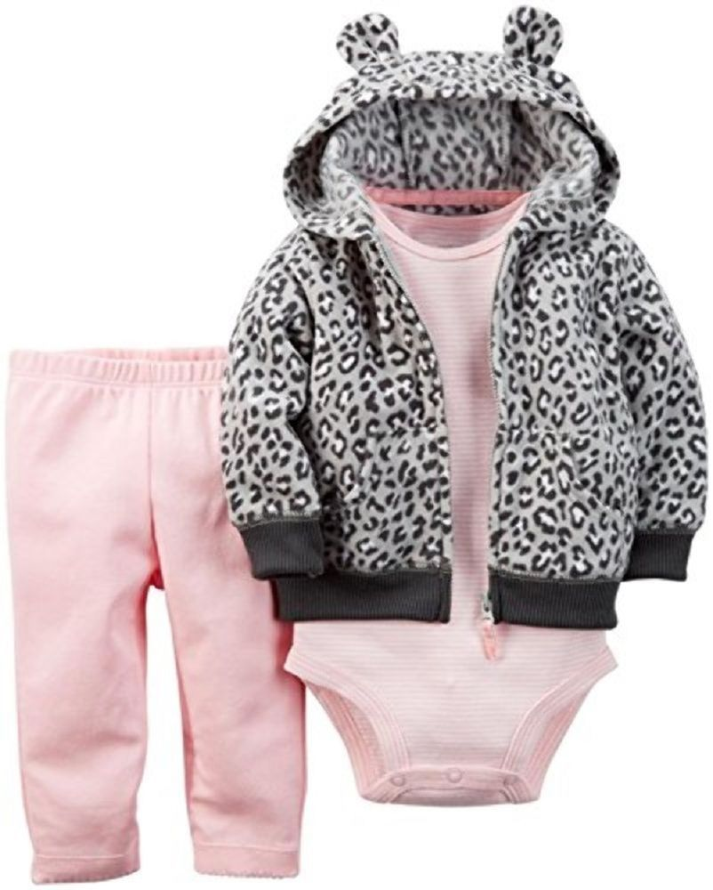 Carter's Girls Newborn 3-Piece Animal Print Cardigan Set NWT ...