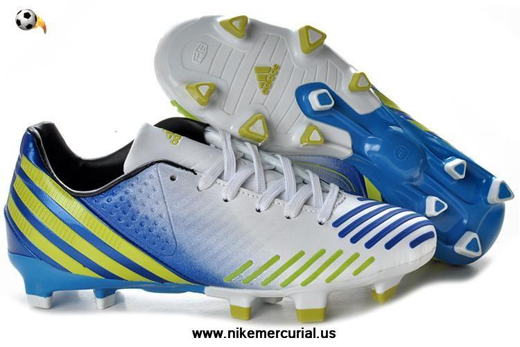 Adidas predator lz trx fg running whitegreenroyal blue