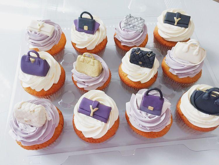 Mini Purse Cupcake Toppers By Catisserie Toronto Ysl Clutch Celine Tze Chanel Quilted Classic Handbag Givenchy Antigona Prada Saffiano