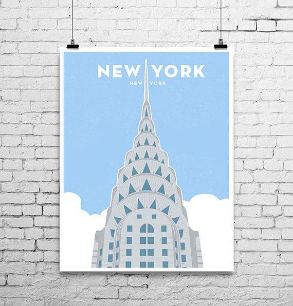 Chrysler Building In New York City Kunstdruck Chrysler Building