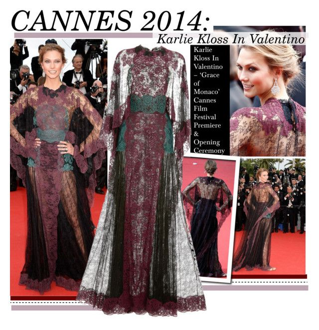"""""""Cannes 2014:Karlie Kloss In Valentino"""" by kusja ❤ liked on Polyvore featuring Valentino, RedCarpet, valentino, cannes, karliekloss and cannes2014"""