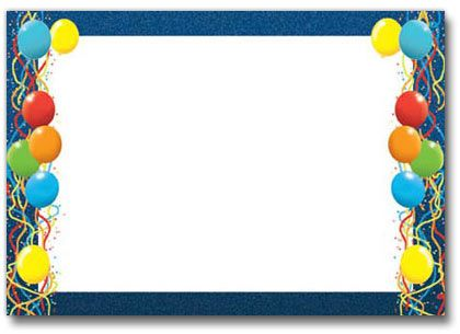 Party Balloons Border 27688walljpg Lugares para visitar