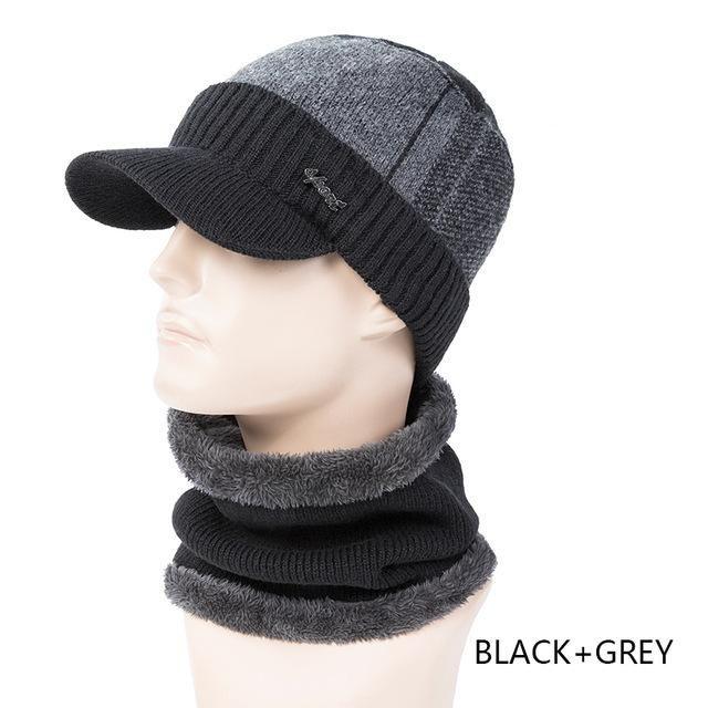 Kids Beanie Winter Hat Ring Scarf Set Neck Warmer Woolen Ski Cap Ring Scarves Boys Girls Knitted Skullies Benaies Velvet Scarves Boy's Accessories Boy's Hats