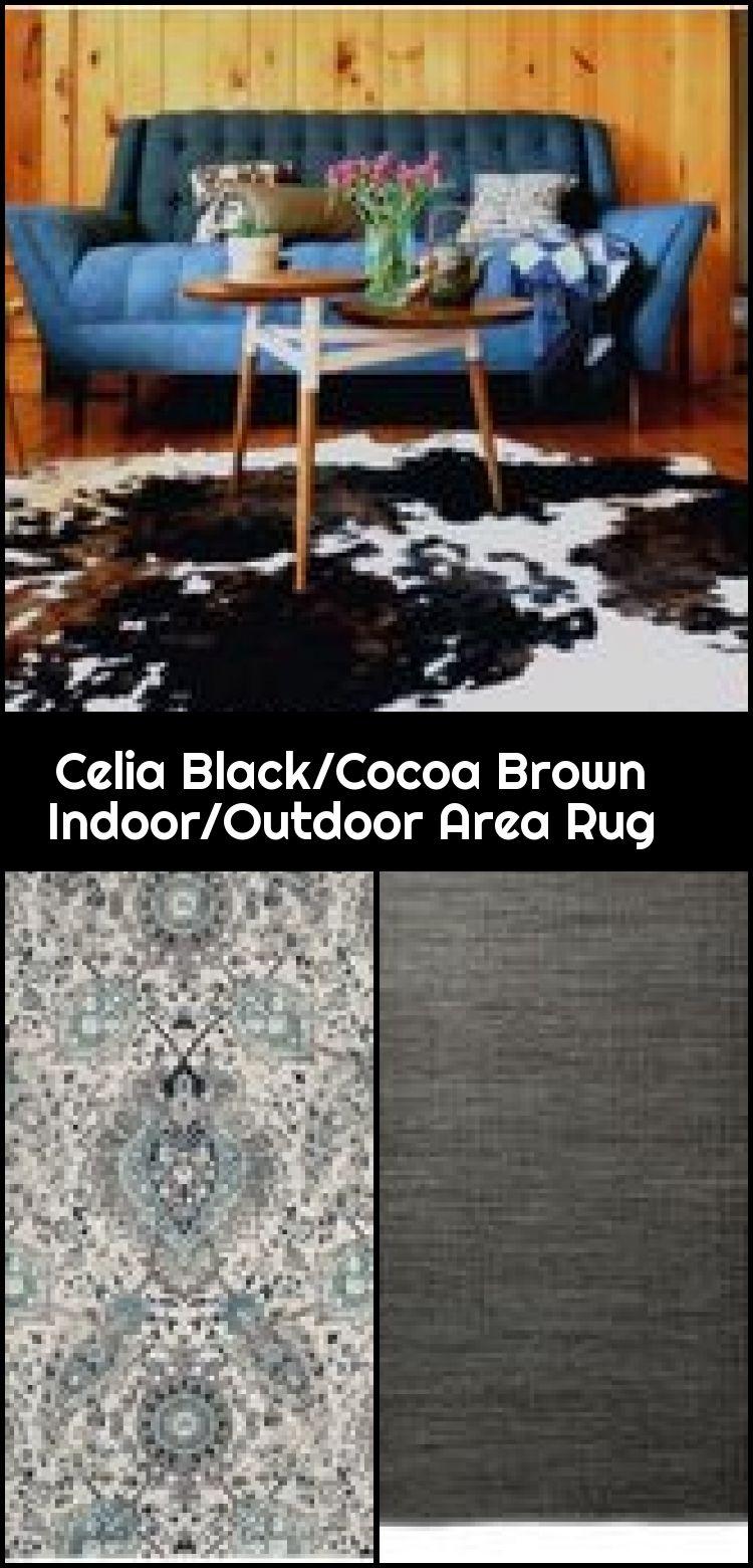 Celia Black Cocoa Brown Teppich Fur Innen Aussen Teppich
