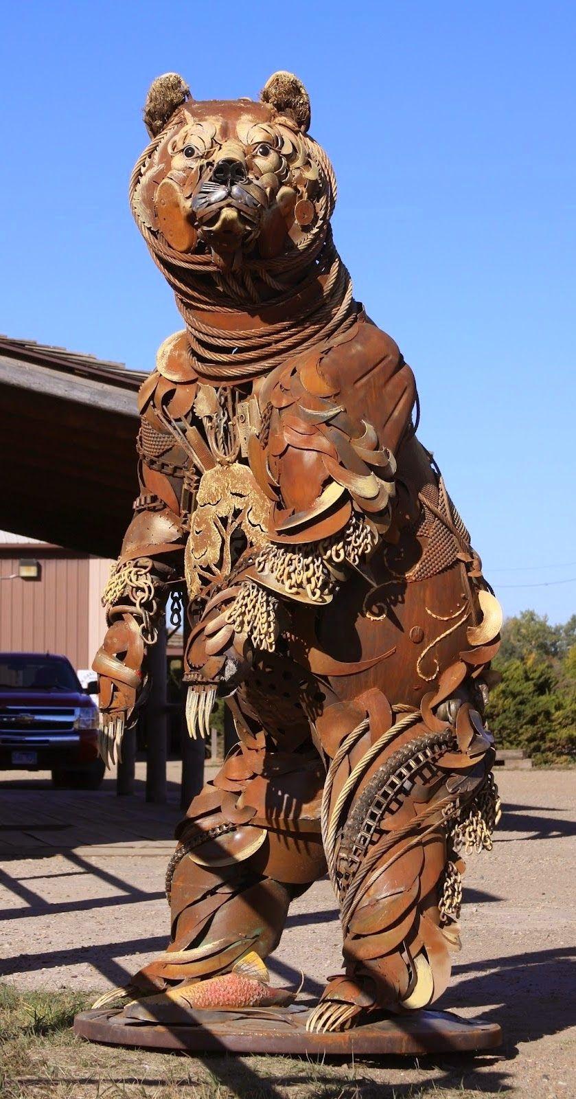 Simply Creative: Scrap Metal Animal Sculptures by John Lopez | Art ...