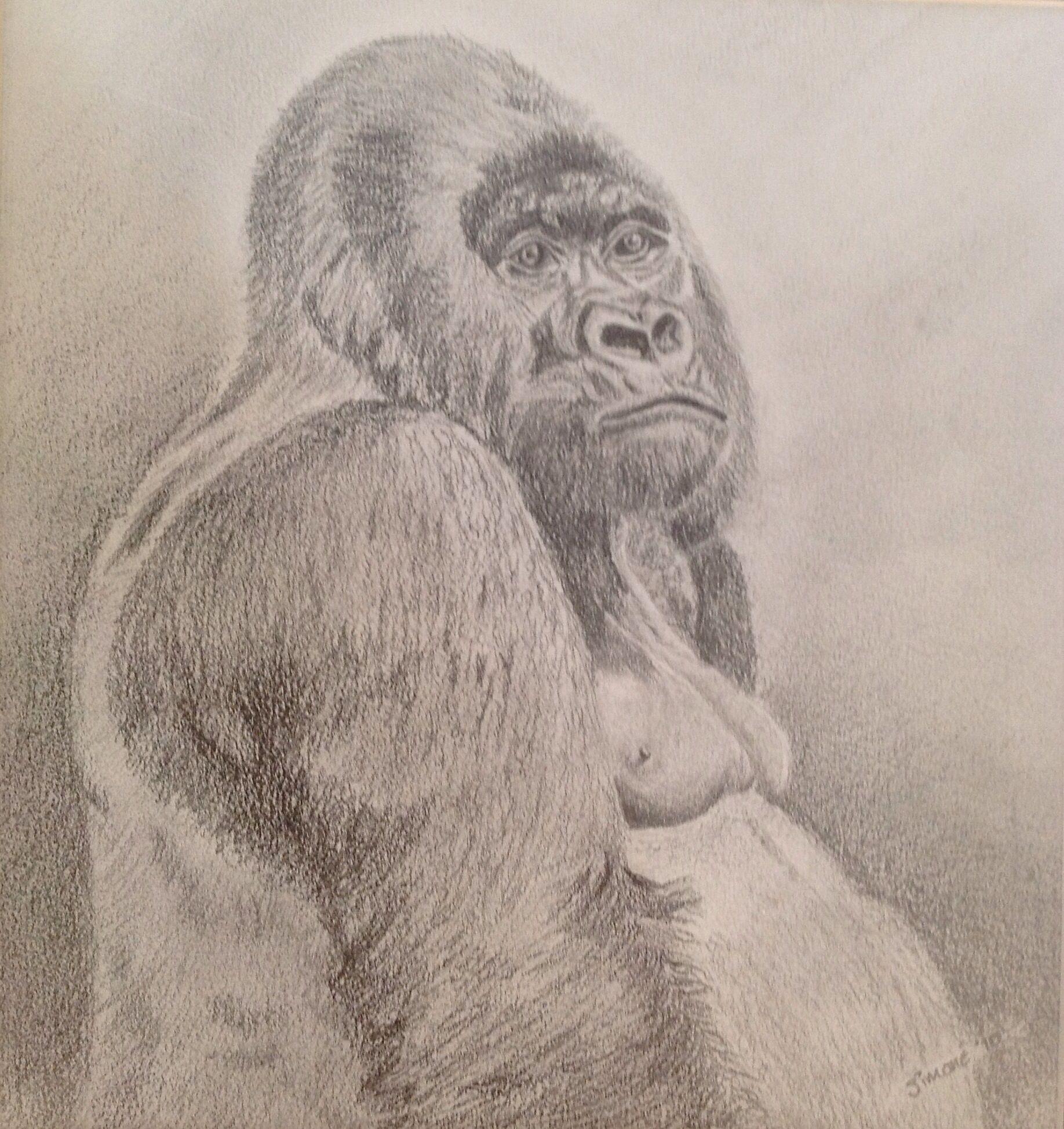 Contemplation, pencil