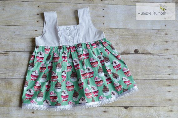 RTS Christmas Cupcakes and Lace Tilly Top by HumbleBumbleChildren