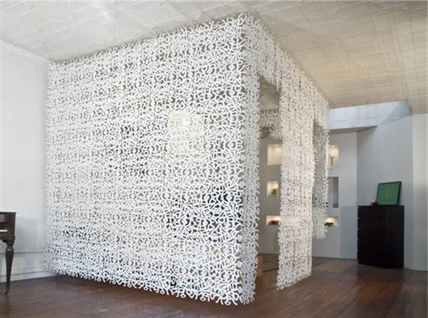 White Square Wall Parion Design Use Parions To Dividing The Room Into Some Parts And Separating A Large Two Interior