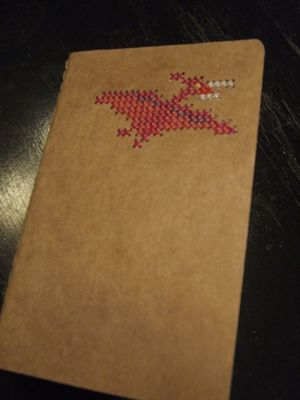 I love the idea of cross stitching onto a moleskine. I am going to do this.